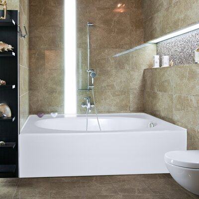 Builder Kona 60 x 42 Whirlpool Bathtub Finish: White