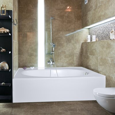 Builder Kona 60 x 36 Bathtub Finish: Bone, Drain Location: Right