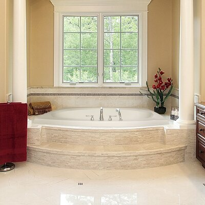 Designer Largo 82 x 64 Soaking Bathtub Finish: White