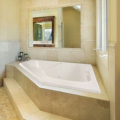 Designer Lara 60 x 60 Whirlpool Bathtub Finish: Bone