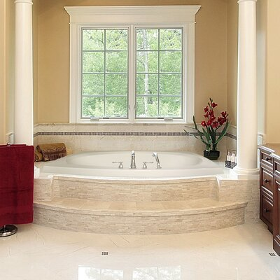 Designer Largo 82 x 64 Air Bathtub Finish: Almond