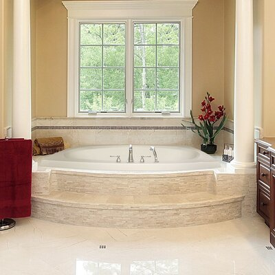 Designer Largo 82 x 64 Whirlpool Bathtub Finish: Bone