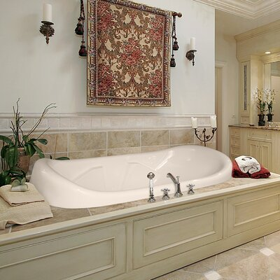Designer Natalie 78 x 44 Salon Spa Soaking Bathtub Finish: Almond
