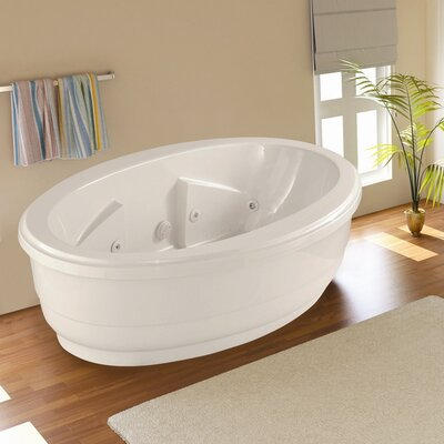 Designer Nina 72 x 44 Salon Spa Soaking Bathtub with Combo System Finish: White