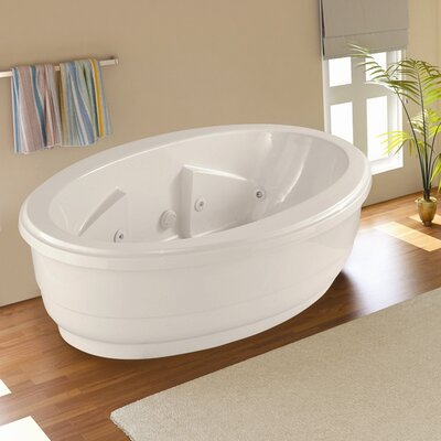 Designer Nina 72 x 44 Soaking Bathtub Finish: White
