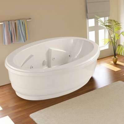 Designer Nina 72 x 44 Whirlpool Bathtub Finish: Bone
