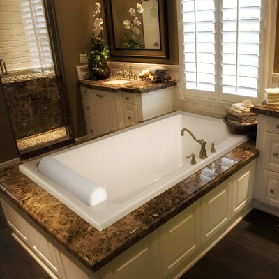 Designer Regal 70 x 34 Whirlpool Bathtub Finish: Almond