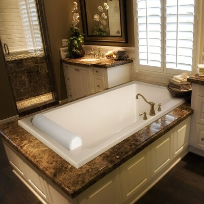 Designer Regal 70 x 43 Whirlpool Bathtub Finish: White