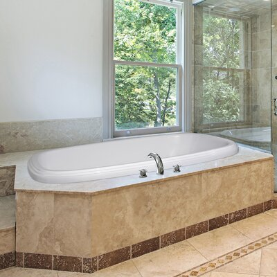 Designer Sylvia 66 x 38 Soaking Bathtub Finish: Biscuit
