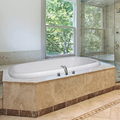 Designer Sylvia 60 x 38Soaking Bathtub Finish: White