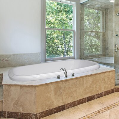 Designer Sylvia 60 x 38 Soaking Bathtub Finish: Bone