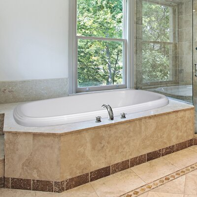 Designer Sylvia 66 x 38 Whirlpool Bathtub Finish: White