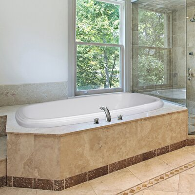 Designer Sylvia 66 x 42 Soaking Bathtub Finish: White