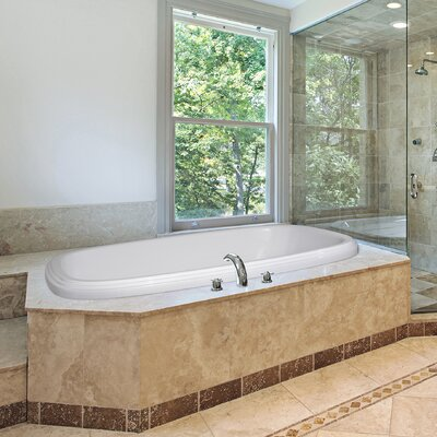 Designer Sylvia 66 x 42 Soaking Bathtub Finish: Almond