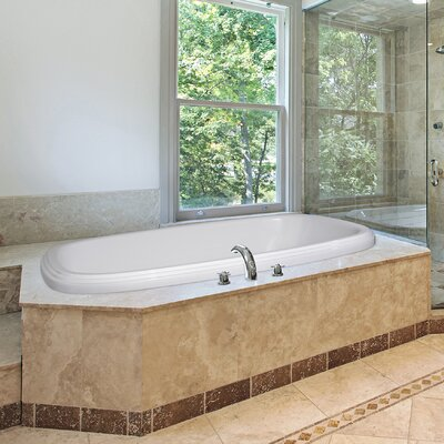 Designer Sylvia 66 x 42 Whirlpool Bathtub Finish: White