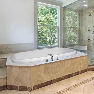 Designer Sylvia 66 x 42 Air Tub Finish: Bone