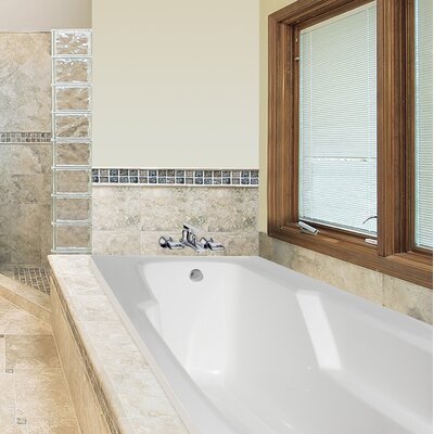 Designer Entre 66 x 32 Soaking Bathtub Finish: White