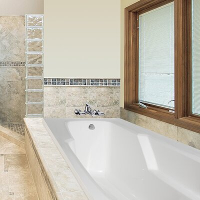 Designer Entre 66 x 32 Air Tub Finish: Almond
