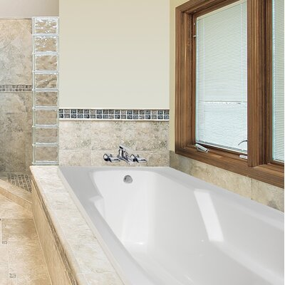 Designer Entre 66 x 32 Whirlpool Bathtub Finish: Bone