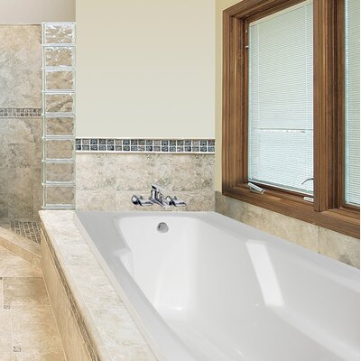 Designer Entre 60 x 32 Soaking Bathtub Finish: White