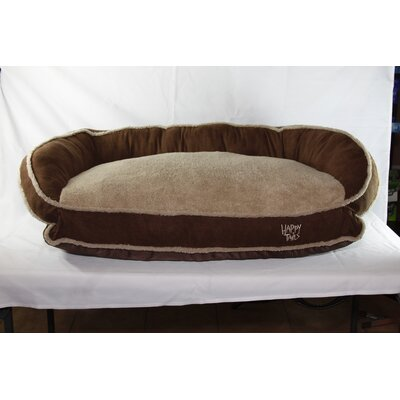 Luxurious Microsuede Dog Bolster Color: Chocolate Brown