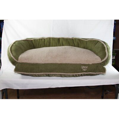 Luxurious Microsuede Dog Bolster Color: Sage Green