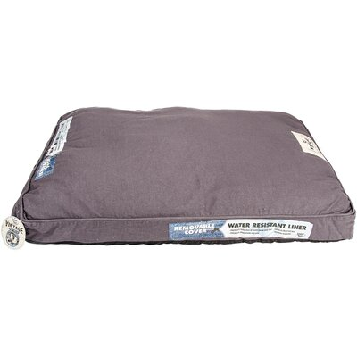 Denim Wash Dog Bed Color: Gray