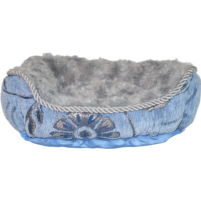 Luxurious Jacquard Dog Cuddler Color: Sky Blue