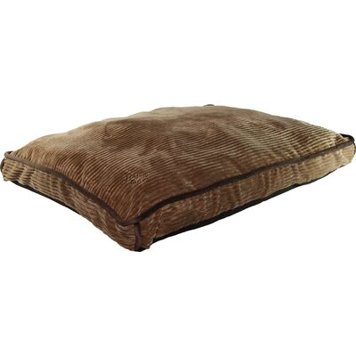 Luxurious Corduroy Gusseted Dog Bed Color: Chocolate Brown