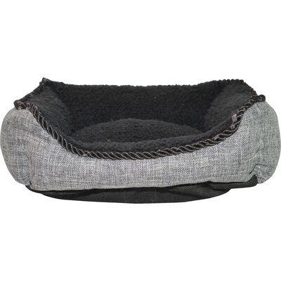 Luxurious Faux Linen Dog Cuddler Color: Charcoal Black