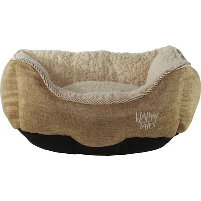 Luxurious Faux Linen Dog Cuddler Color: Khaki Brown