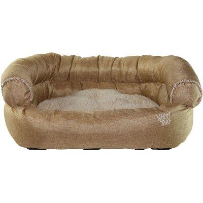 Luxurious Faux Linen Dog Sofa Color: Khaki