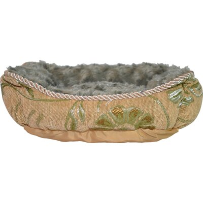 Luxurious Jacquard Dog Cuddler Color: Tan/Green