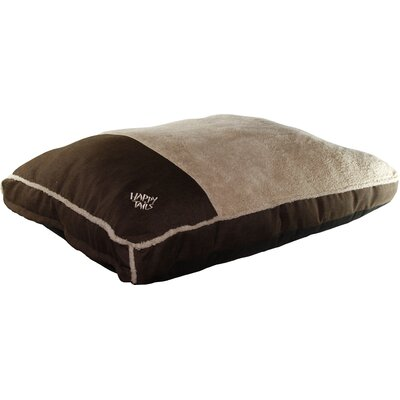 Luxurious Faux Linen Gusseted Dog Bed Color: Chocolate Brown