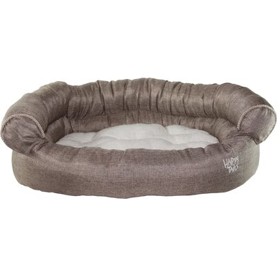 Luxurious Faux Linen Dog Sofa Color: Chocolate Brown