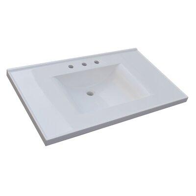 37 Single Bathroom Vanity Top Vanity Top: Cultured Marble