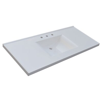 Premier 49 Single Bathroom Vanity Top Vanity Top: Cultured Marble
