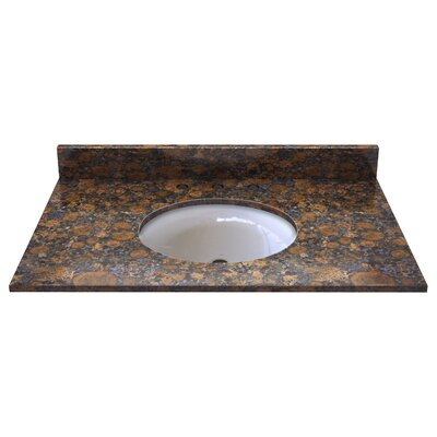Natural Stone 37 Single Bathroom Vanity Top Top Finish: Sable Brown