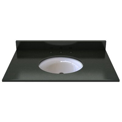 Natural Stone 37 Single Bathroom Vanity Top Top Finish: Midnight Black