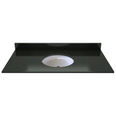 Natural Stone 49 Single Bathroom Vanity Top Finish: Midnight Black
