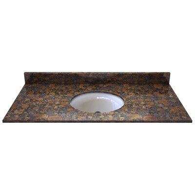 Natural Stone 49 Single Bathroom Vanity Top Finish: Sable Brown