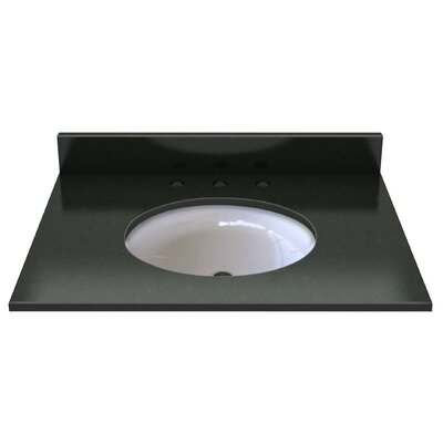 Natural Stone 31 Single Bathroom Vanity Top Top Finish: Midnight Black