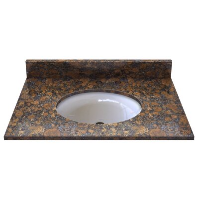 Natural Stone 31 Single Bathroom Vanity Top Top Finish: Sable Brown