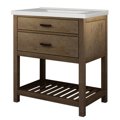 Toby 31 Single Bathroom Vanity Set with Integrated Sink