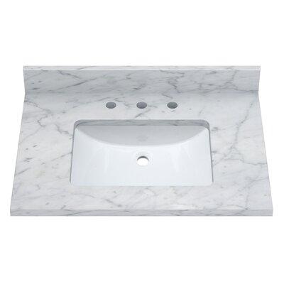 Carrara 31 Single Bathroom Vanity Top