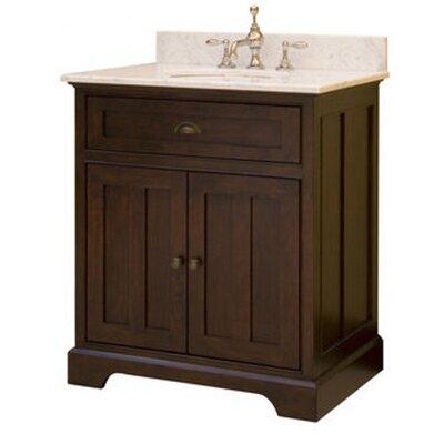 "SAGEHILL Somerset 30"" Single 2 Doors Bathroom Vanity Set (2 Pieces) - Top Finish: Carrara"