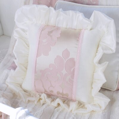 Blush Petal Border Throw Pillow