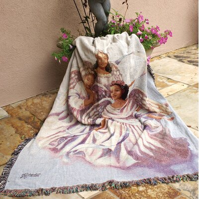 Angelic Trio Tapestry Cotton Throw