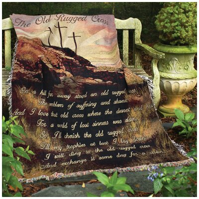 Old Rugged Cross Tapestry Cotton Throw
