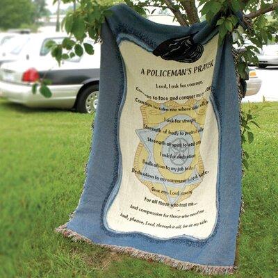 Policemans Prayer Tapestry Cotton Throw